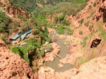 Ouzoud Waterfalls, View