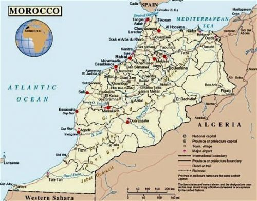 Travel Map of Morocco