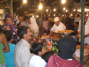 Eating in Djemaa-El-Fna Square, In Marrakesh, Your Morocco Travel Guide