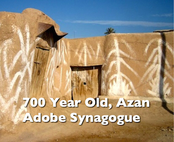 700 Year Old Azan Adobe Synagogue, Morocco