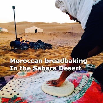 Breadbaking in the Moroccan Sahara, Photograph by Amanda Mouttaki