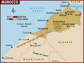Lonely Planet Travel Guide, Map of Morocco