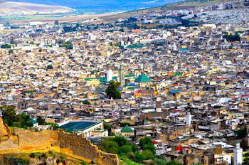 View of Fes Medina & Jewish Mellah