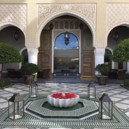 Andalusian-Architecture-Palais-Faraj-Hotel-Courtyard-Morocco-Travel-Blog