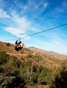 Ziplining at Terres D'Amanar, Your Morocco Tour Guide