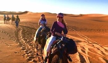 Family Camel Trekking in Erg Chebbi Dunes