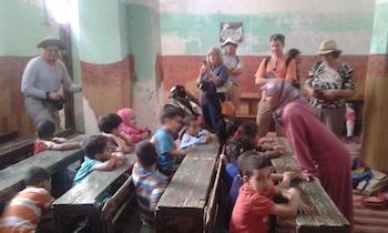 Family School Visit, Moroccan Sahara Desert